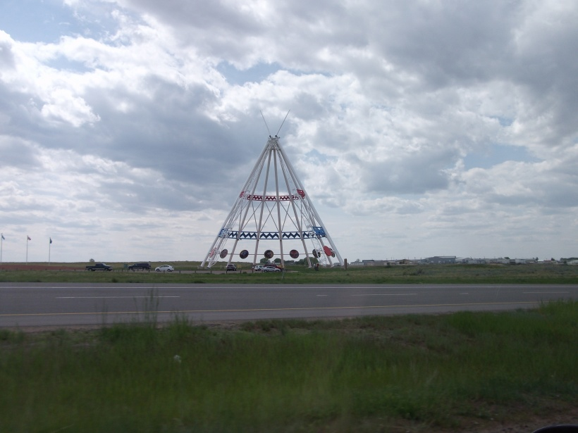 Worlds Largest Teepee, Medicine Hat, Alberta, Canada (215 feet tall)