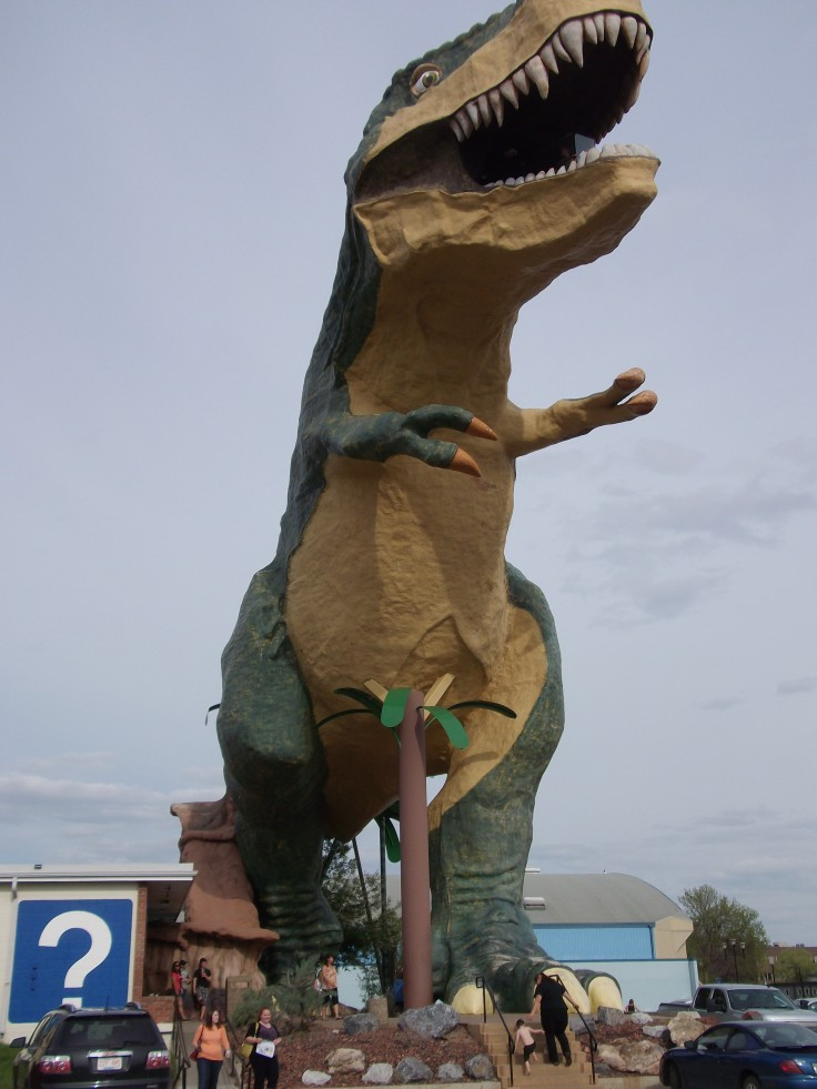 World's Largest Dinosaur, Drumheller, Alberta, Canada (86 feet tall, weighing over 145,000 pounds)