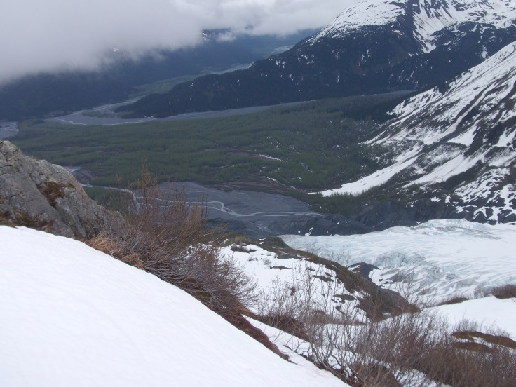 The top of Exit Glacier, Kenai Fjords National Park, Alaska