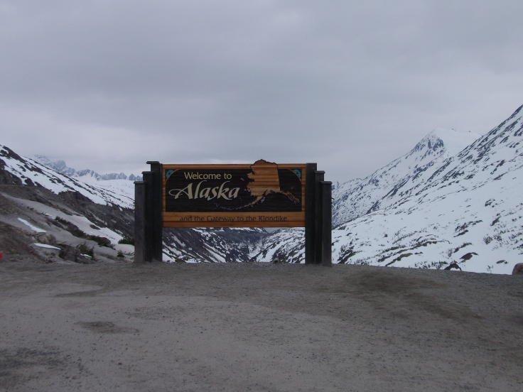 When I first entered Alaska, May 23rd, 2012.