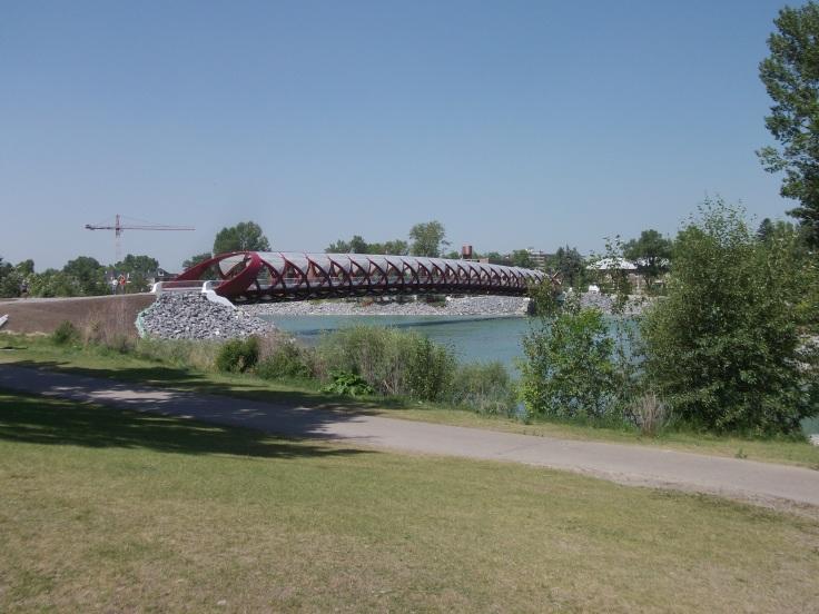 New pedestrian bridge built in Calgary, Alberta, Canada.