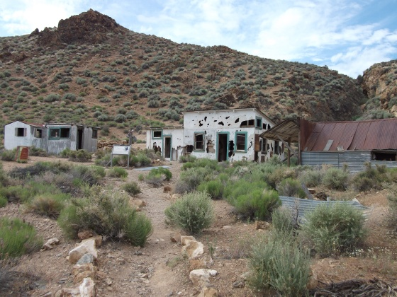 Abandoned mine camp.