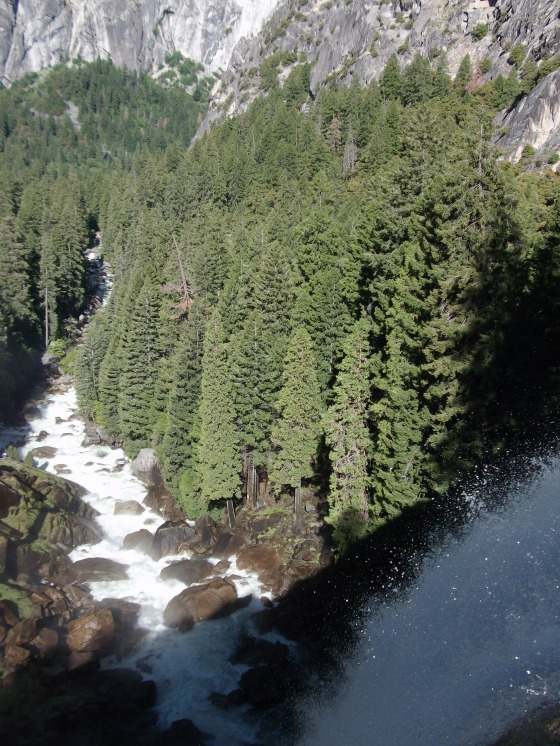 The top of Vernal Falls