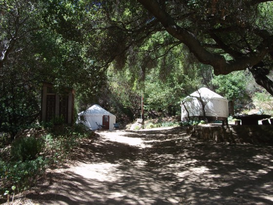 The Yurt Village.