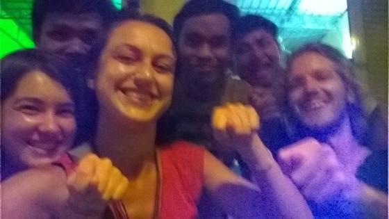 The servers, Sofie, Serpil, and I