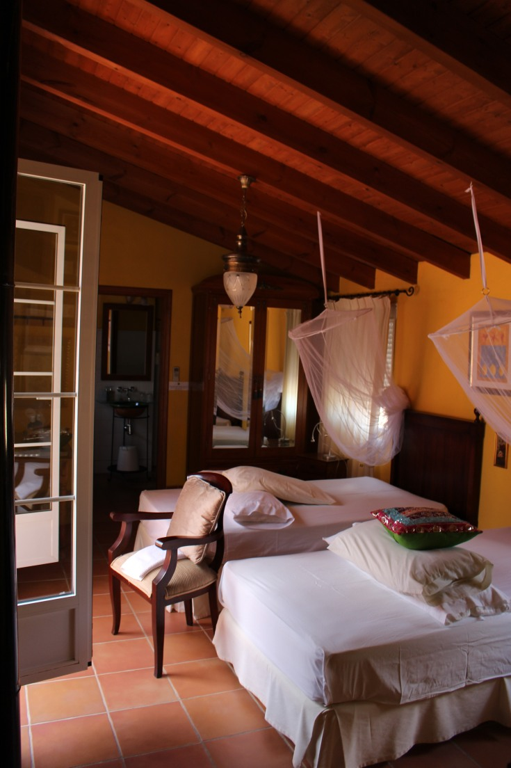 A guest room at the Shala.